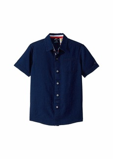 Tommy Hilfiger Short Sleeve Magnetic Button Shirt (Little Kids/Big Kids)