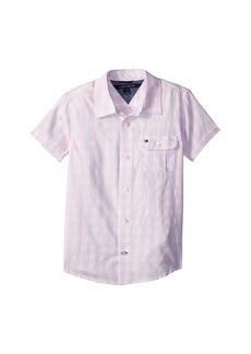 Tommy Hilfiger Short Sleeve Ryan Yarn-Dye Plaid Shirt (Big Kids)