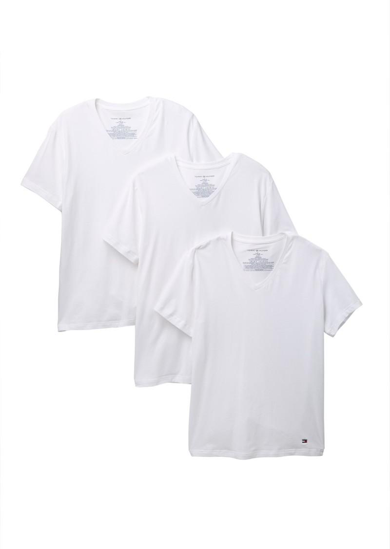 Tommy Hilfiger Short Sleeve V-Neck Tee - Pack of 3