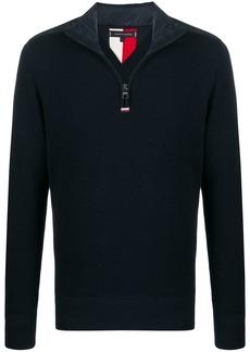 Tommy Hilfiger shoulder-patch half-zip jumper