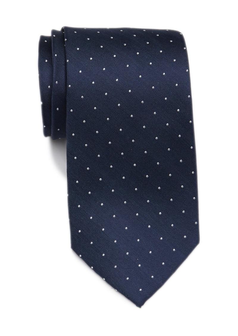 Tommy Hilfiger Silk Micro Textured Dot Tie - XL