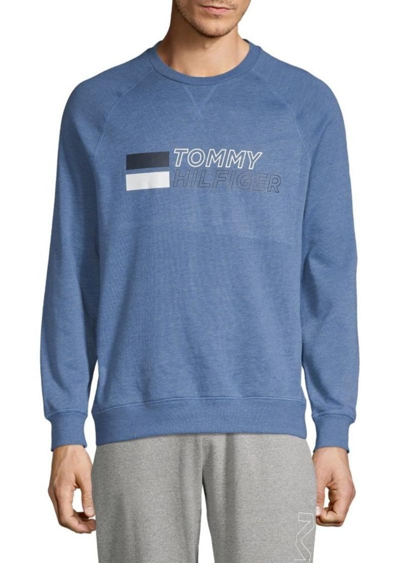 Tommy Hilfiger Sleepwear Logo Cotton-Blend Sweatshirt