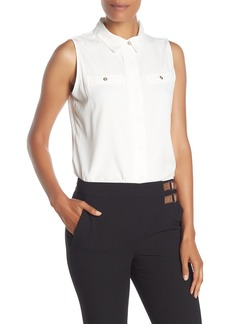 Tommy Hilfiger Sleeveless Point Collar Shirt