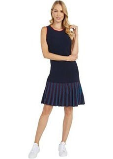 Tommy Hilfiger Sleeveless Striped Dress with Wide Neck Opening