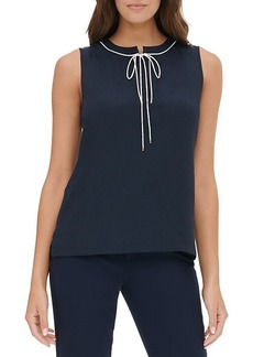 Tommy Hilfiger Sleeveless Tie-Front Top