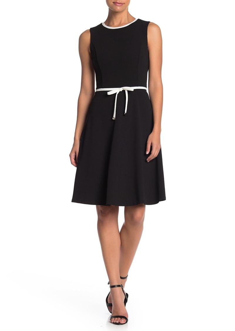 Tommy Hilfiger Sleeveless Waist Tie Fit & Flare Dress