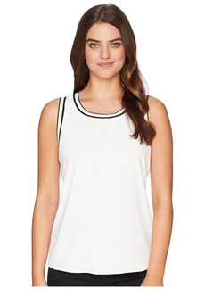 Tommy Hilfiger Sleeveless Woven Pullover Top w/ Trim