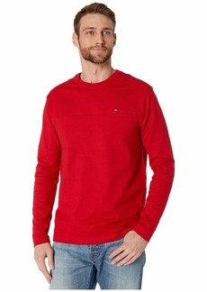 Tommy Hilfiger Solid Long Sleeve T Shirt with Magnetic Buttons at Shoulders