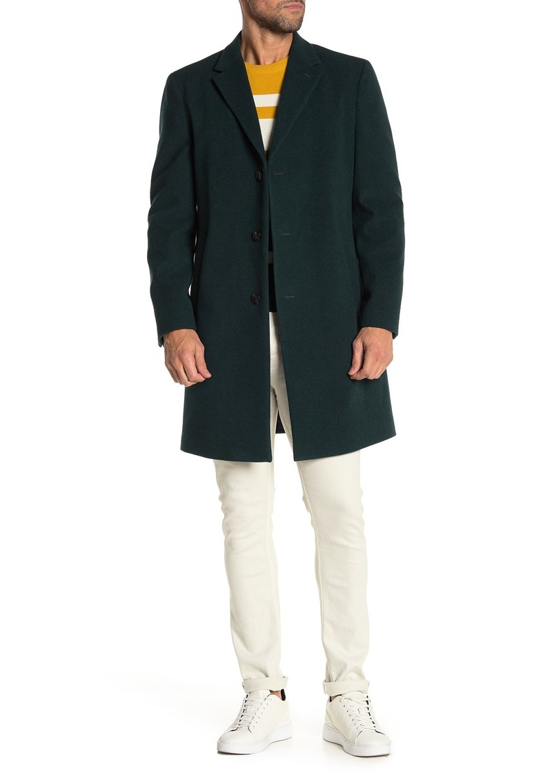 Tommy Hilfiger Solid Notch Lapel Felted Coat