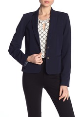 Tommy Hilfiger Solid Two Button Notch Lapel Lined Blazer