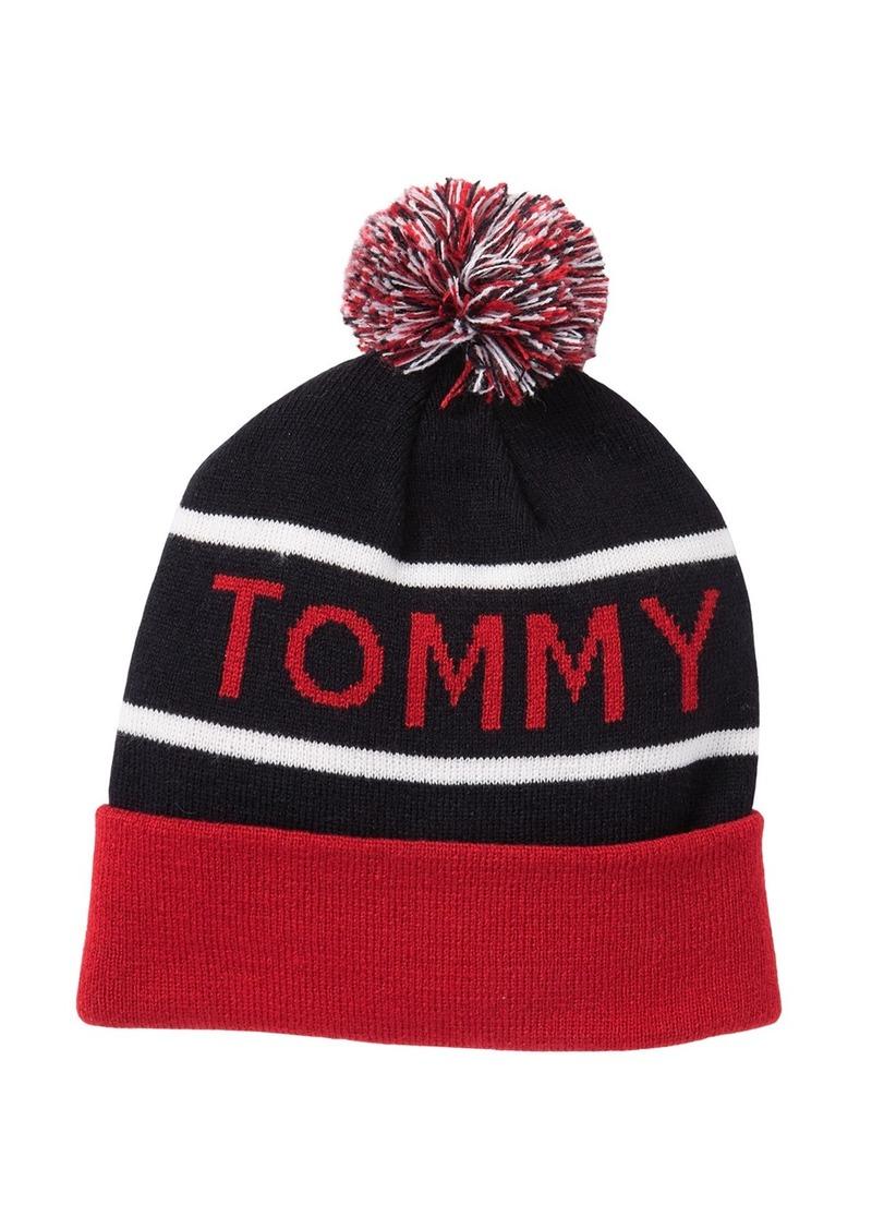 Tommy Hilfiger Sport Brand Jacquard Pompom Beanie