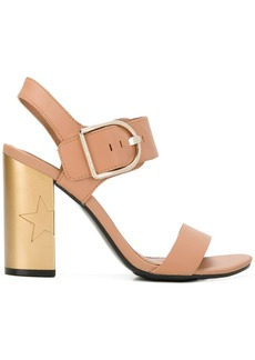 Tommy Hilfiger star embossed heel sandals