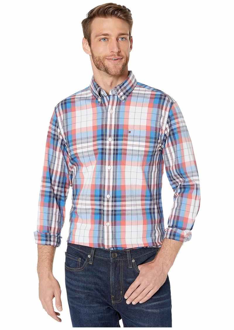 Tommy Hilfiger Stretch Button Down Shirt Custom Fit