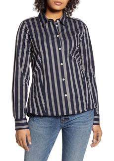 Tommy Hilfiger Stripe Button Front Blouse