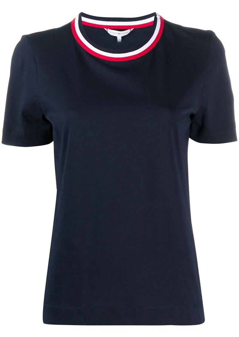 Tommy Hilfiger stripe collar T-shirt