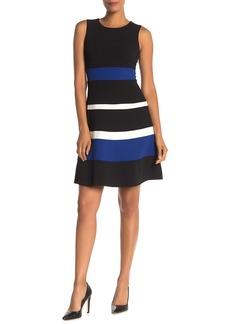 Tommy Hilfiger Stripe Flare Hem Dress