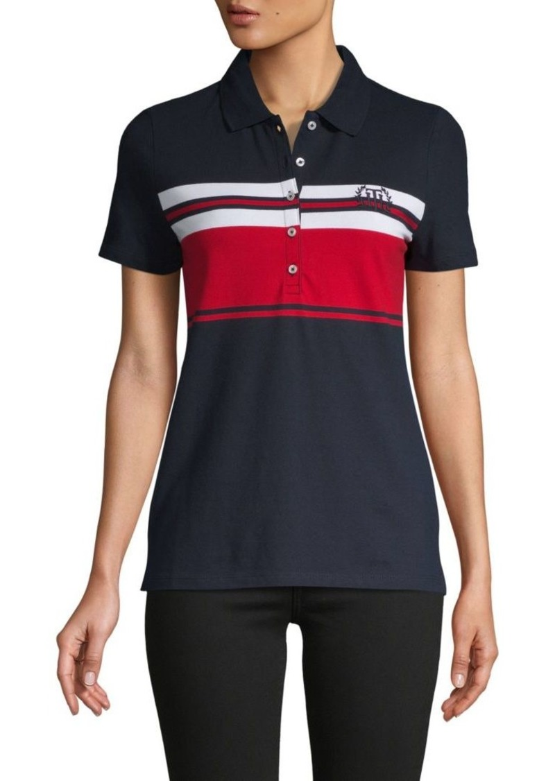 Tommy Hilfiger Stripe Stretch Cotton Polo