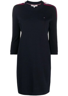 Tommy Hilfiger stripe trim sweatshirt dress