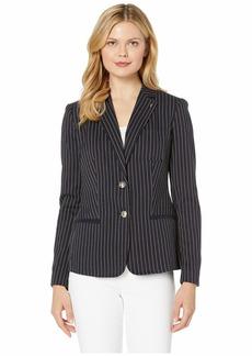 Tommy Hilfiger Stripe Two-Button Sweatshirt Jacket