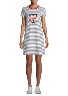 Tommy Hilfiger Striped Cotton-Blend T-Shirt Dress