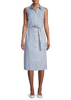 Tommy Hilfiger Striped Cotton Midi Shirt Dress
