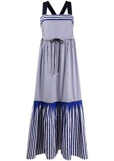 Tommy Hilfiger striped fish-tail maxi dress