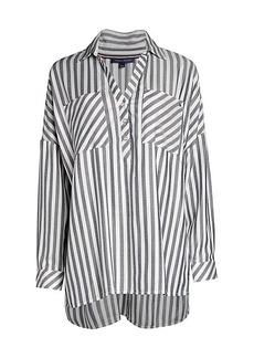 Tommy Hilfiger Striped High-Low Shirt