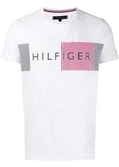 Tommy Hilfiger striped logo print T-shirt
