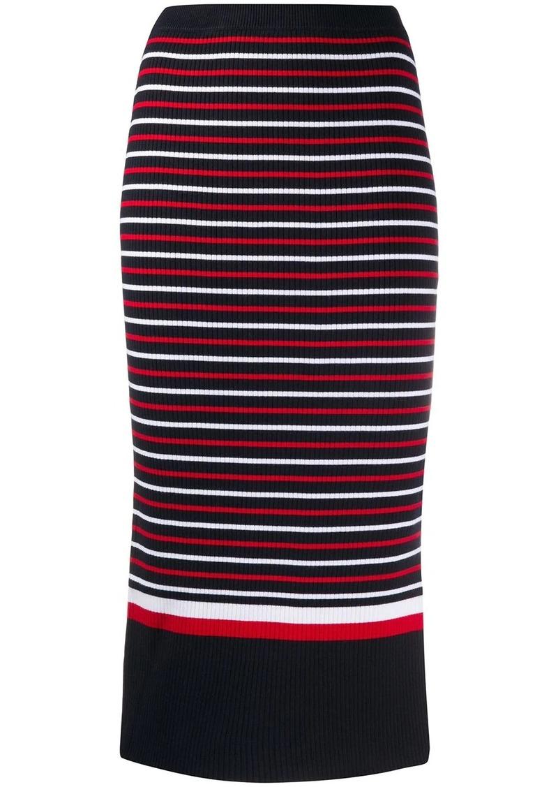 Tommy Hilfiger striped midi skirt