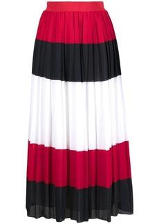 Tommy Hilfiger striped pleated midi skirt