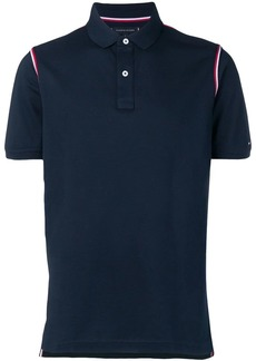 Tommy Hilfiger striped trim polo shirt
