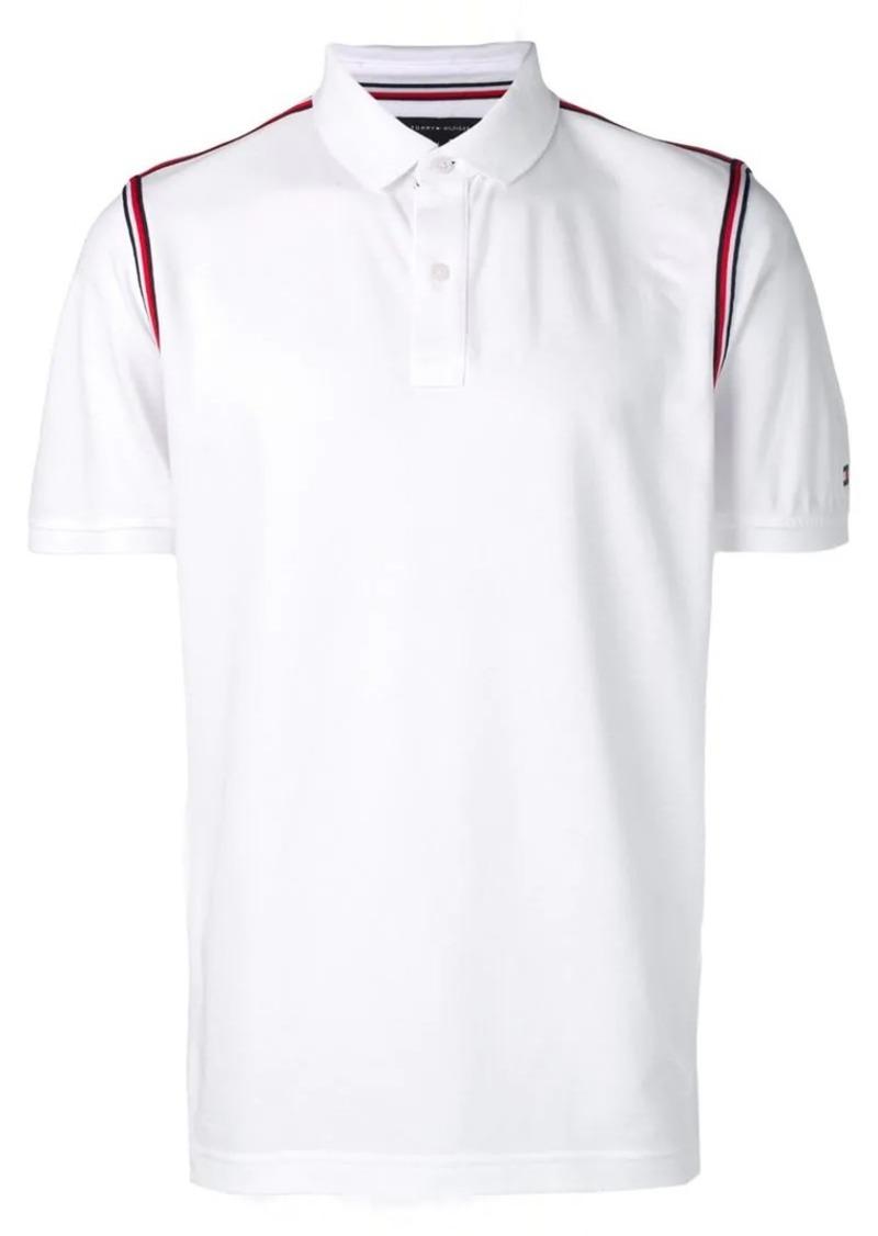 Tommy Hilfiger striped trim polo shirt