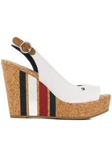 Tommy Hilfiger striped wedge heel sandals