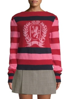 Tommy Hilfiger Striped Wool Crest Sweater