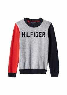 Tommy Hilfiger Sweater with Velcro Brand Shoulder Closure (Little Kids/Big Kids)