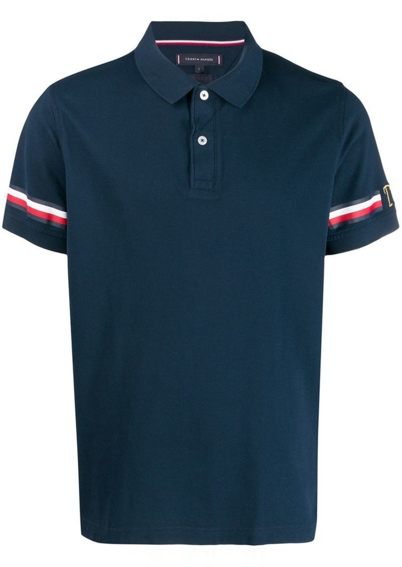 Tommy Hilfiger taped sleeve polo shirt