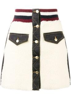 Tommy Hilfiger teddy fur mini skirt