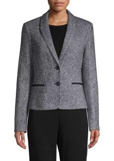 Tommy Hilfiger Textured Button-Front Blazer