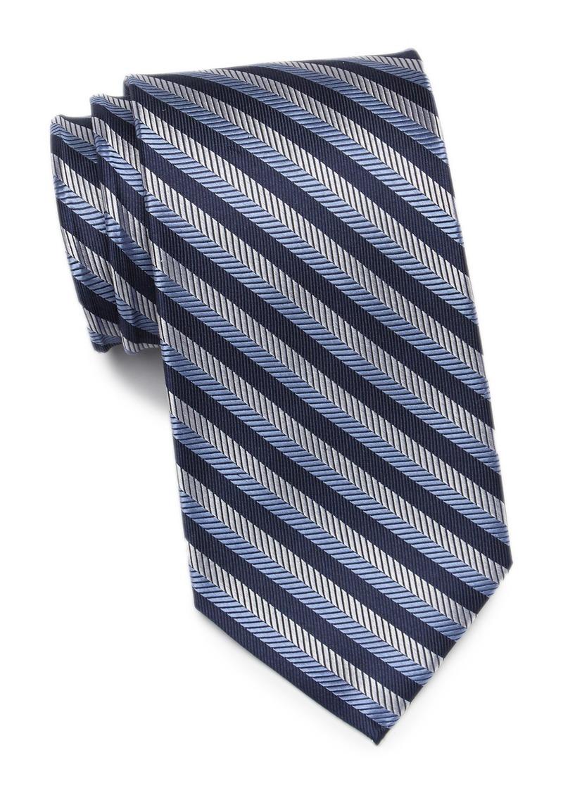 Tommy Hilfiger Textured Village Stripe Silk Tie - XL