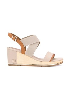 Tommy Hilfiger TH panelled wedge sandals