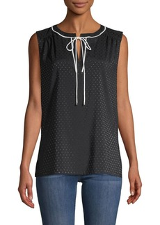 Tommy Hilfiger Tie-Front Sleeveless Top
