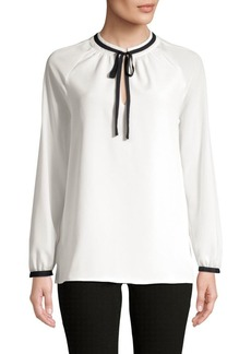 Tommy Hilfiger Tie-Neck Long-Sleeve Top