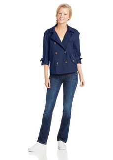 Tommy Hilfiger Tommy Girl Women's Junior Short Cotton Trench Coat