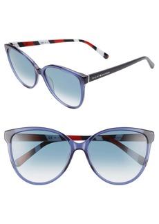 Tommy Hilfiger 57mm Gradient Cat Eye Sunglasses