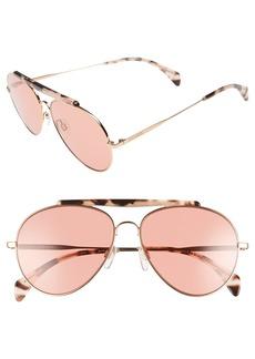 Tommy Hilfiger 58mm Aviator Sunglasses