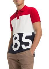 Tommy Hilfiger 85-Printed Color-Block Regular Fit Polo Shirt