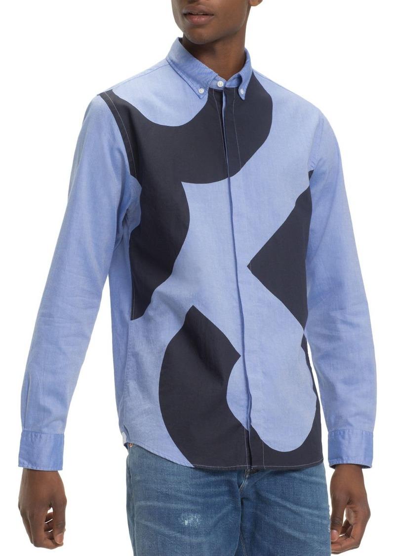 Tommy Hilfiger 85-Printed Regular Fit Button-Down Shirt