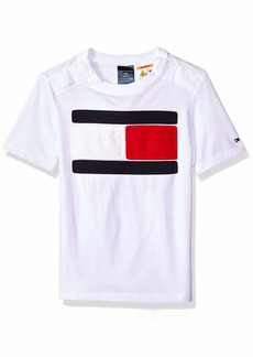 Tommy Hilfiger Adaptive Boys' Big T Shirt Magnetic Buttons at Shoulders