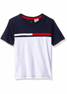 Tommy Hilfiger Adaptive Boys' Big T Shirt with Adjustable Shoulder Closure