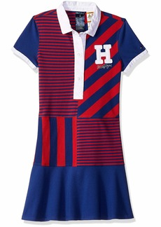 Tommy Hilfiger Adaptive Girls' Little Polo Dress with Magnetic Buttons